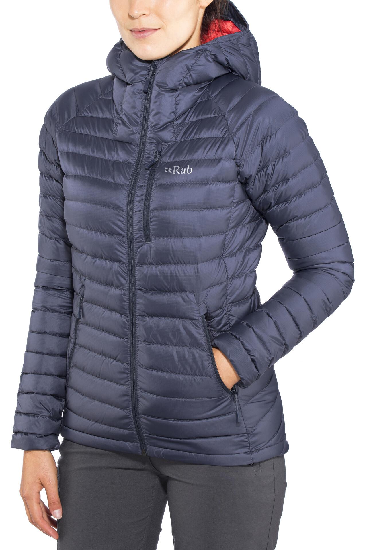 Rab Microlight Alpine Long Jacket Damen steelpassata